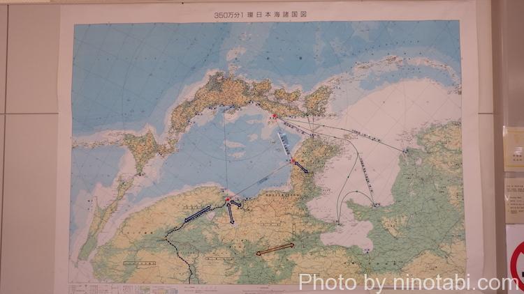 逆さまになった見慣れない日本地図