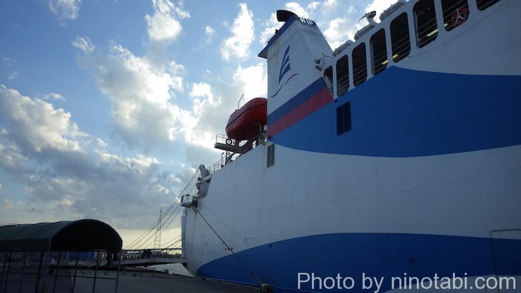DBSクルーズフェリーの船体