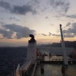 海上の夕焼け
