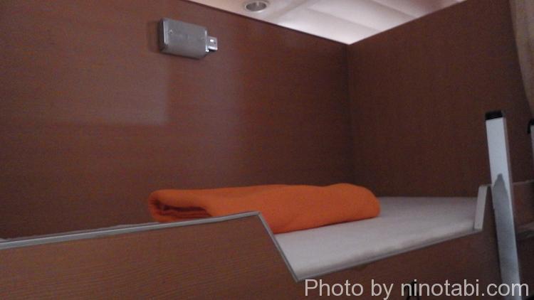 エコノミークラスのベッド