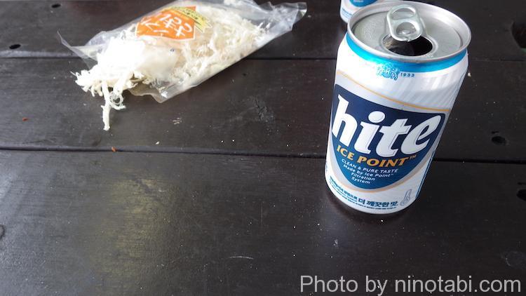 韓国出港の乾杯