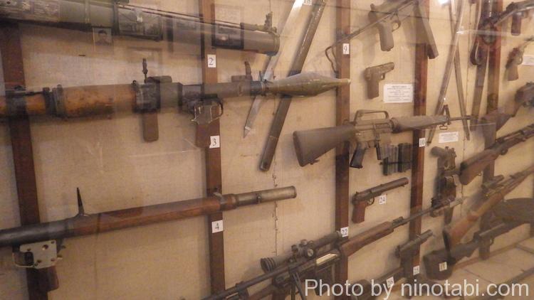 銃火器の展示