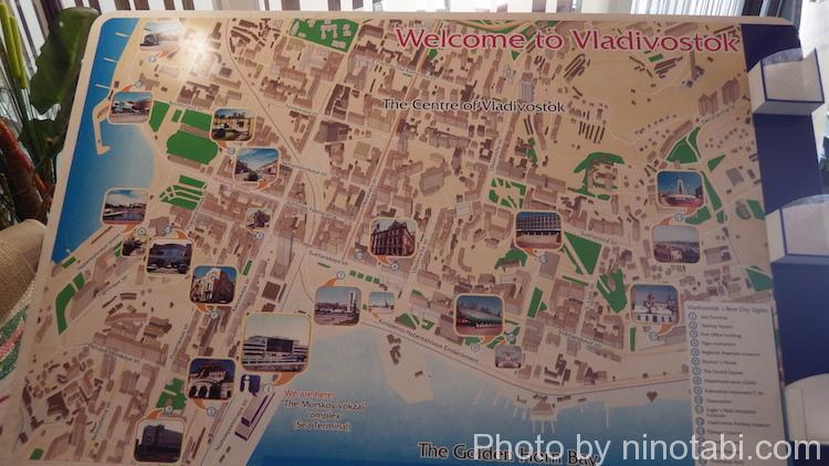ウラジオストクの街の地図