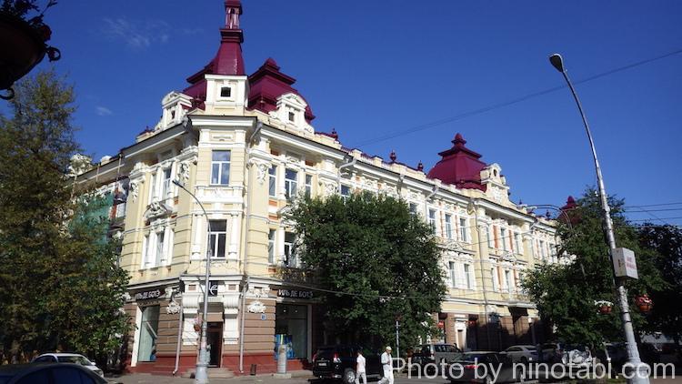 イルクーツク市内の建物