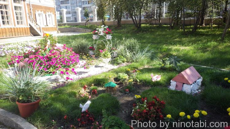 公園内の花壇