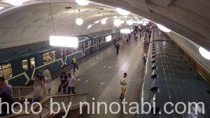 1号線ビブリオチェーカ駅のホームの様子