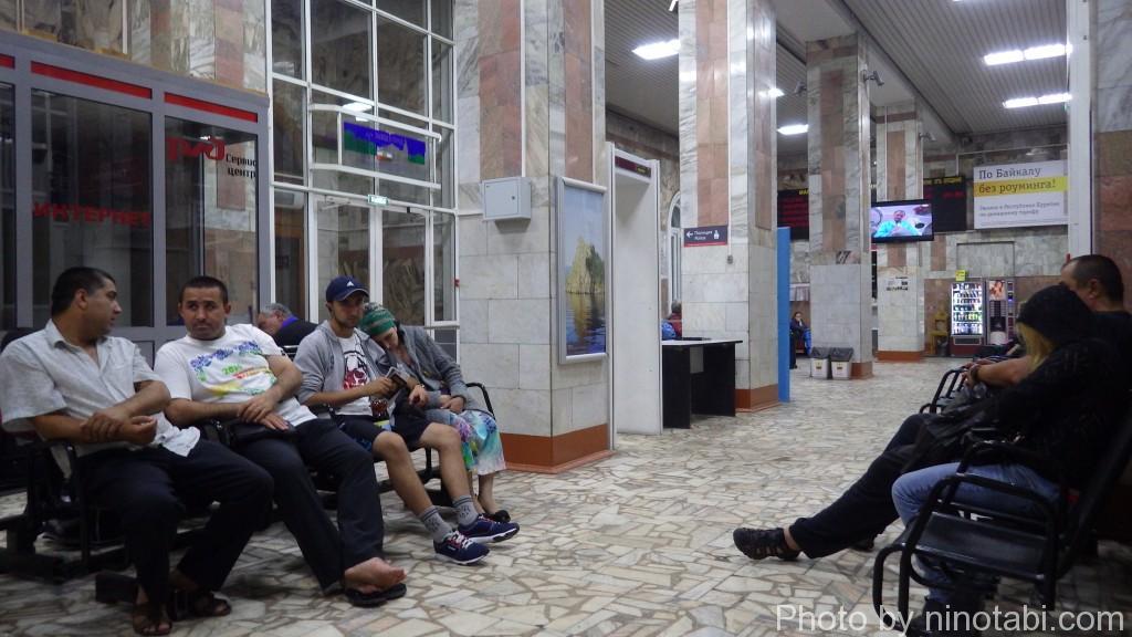 イルクーツク駅の待合室
