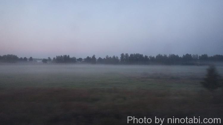 朝焼けの草原