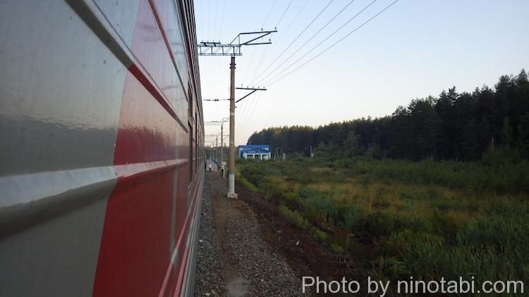 山中で停まったシベリア鉄道