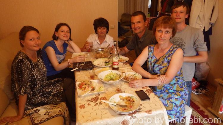 イリーナさんとみんなと夕食