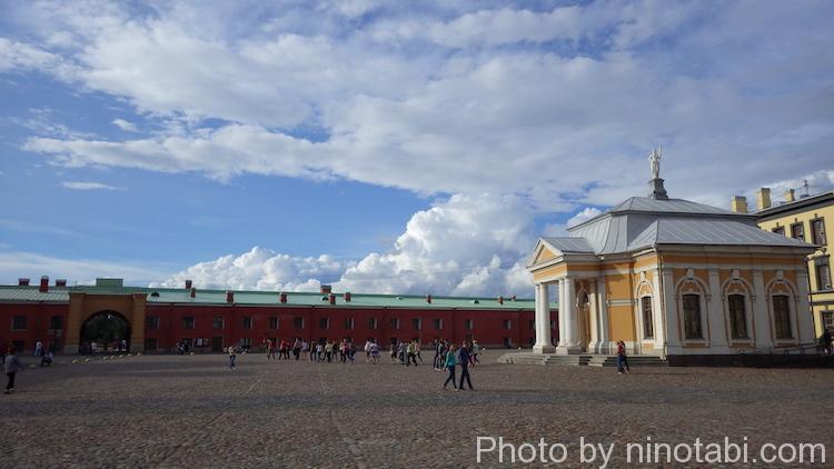 ペトロパヴロフスク要塞内