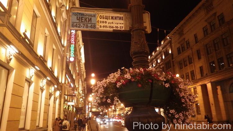 ネフスキー大通りの花