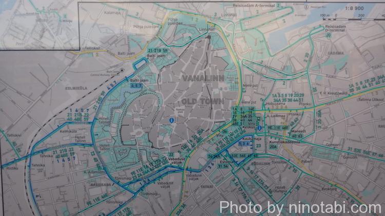 市内バスの運行ルート