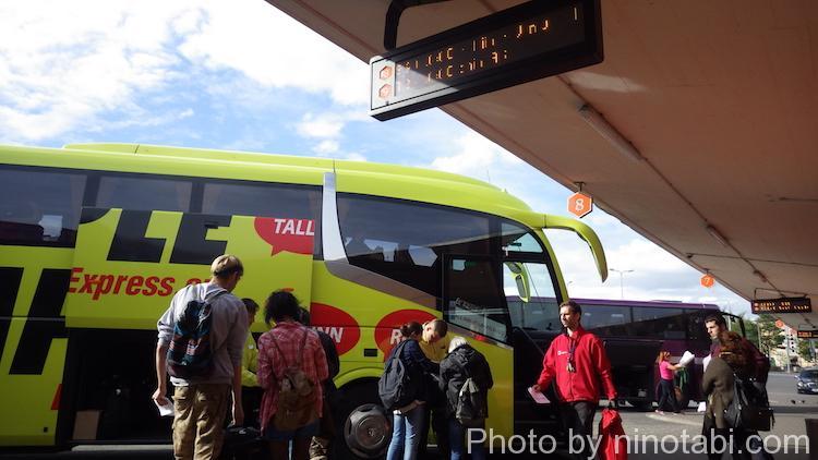 ラトビア行きのバス