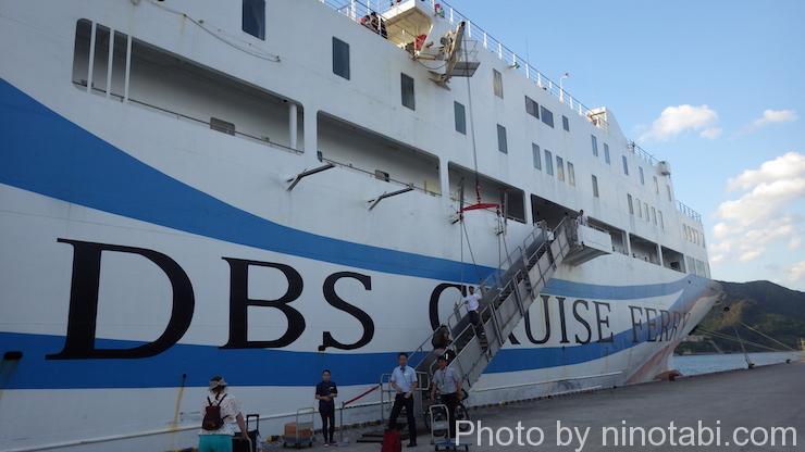 日本からロシアへ渡る船へ