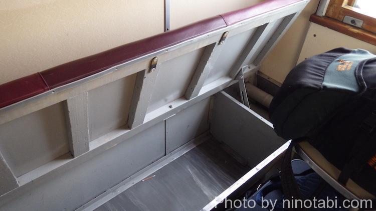 下段席の収納スペース