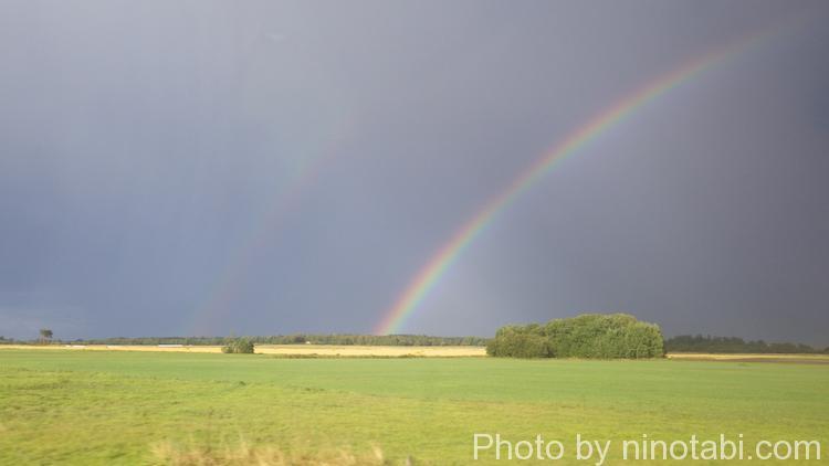 エストニアにかかる虹