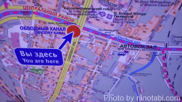 アブヴォードヌイ・カナール周辺の地図