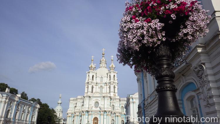スモーリヌイ聖堂遠景
