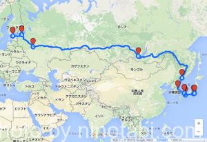 ロシア旅のルート