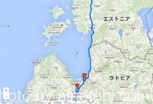 ラトビア旅のルート