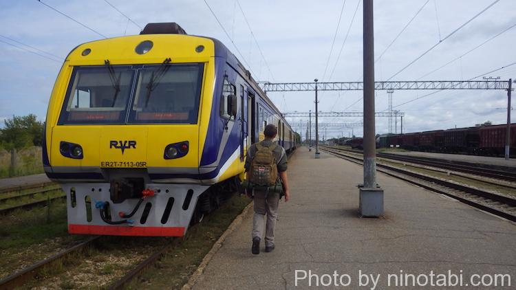 リガ駅の列車